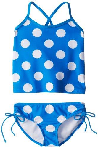 Kanu Surf Little Girls' Beachball Tankini Swimsuit, Blue, 6