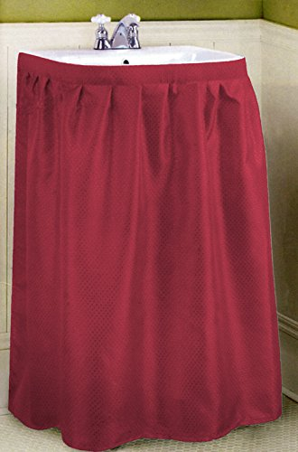 New Fabric Sink Skirt   Burgundy 56u0027wide 32u0027long