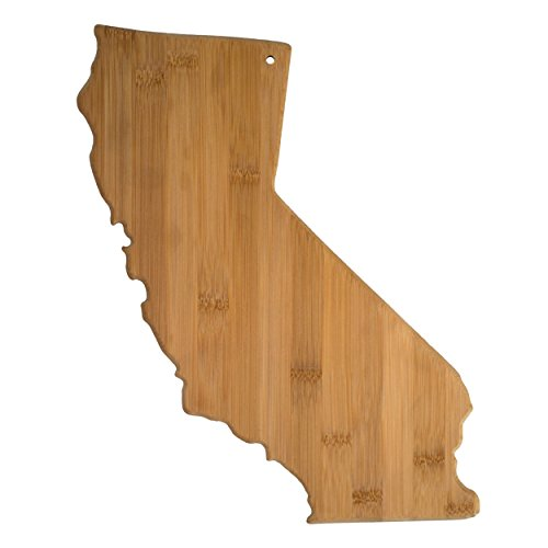 Totally Bamboo California State Shaped Bamboo Serving and Cutting Board
