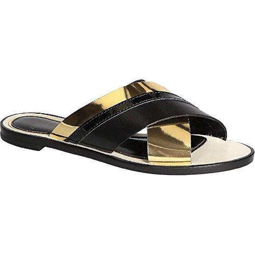 LANVIN Women's Black Calf Leather Slippers - Thong Shoes - Size: 38 - Lanvin Shop