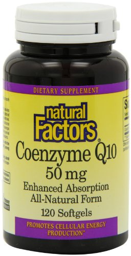 Natural Factors Coenzyme Q10 50mg gélules, 120-Count