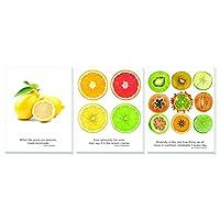 """ADVANTUS 11"""" x 14"""" Canvas Motivational Prints, Fruit, Set of 3 (91109)"""