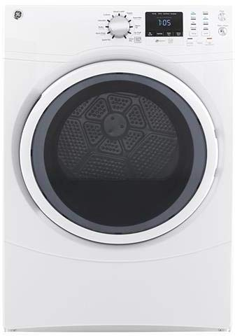 GE Front Load Speed Wash GFW430SSMWW 27 Washer with GFD43ESSMWW 27 Electric Dryer Laundry Pair in White