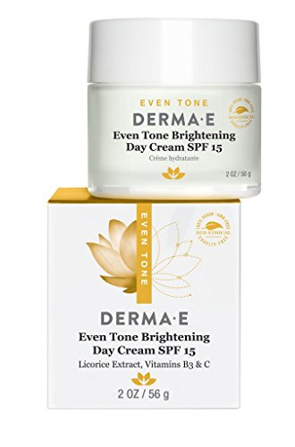 DERMA E Even Tone Brightening Day Cream SPF 15 with Vitamin C, 2oz Brightening Sunscreen