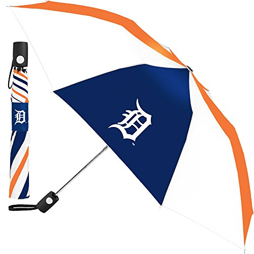 - MLB Detroit Tigers Automatic Folding Umbrella