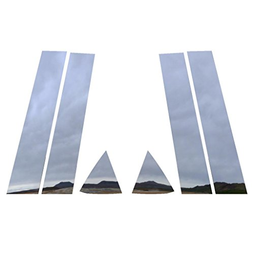 Dodge Pillar Cover (Polished Stainless Pillar Post Trim Cover fits: 2006-2010 Dodge Charger All Models - Ferreus Industries - PIL-001-CR)