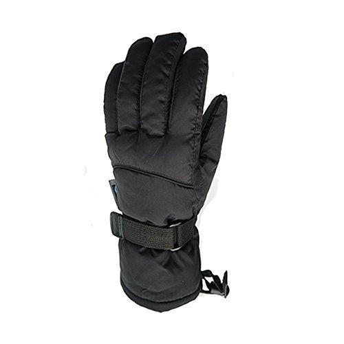 Women Waterproof Windproof Ski Gloves,Skiing Gloves Men's Winter Snowboard Snowmobile Gloves (Black, XL)