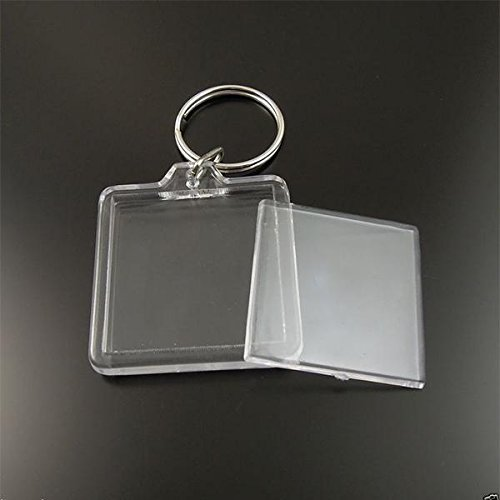Lot de porte clé clés photo transparent - Lot de 2 Akacha