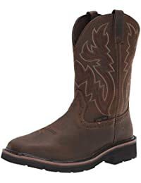 "Men's Rancher 10"" Square Toe Steel Toe Work Boot"