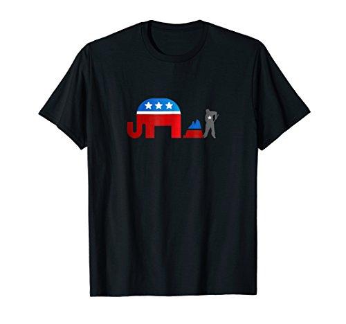 Republican Democrat Elephant Poop Shirt