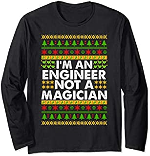 [Featured] I'm an ENGINEER not a Magician Ugly Christmas ENGINEER Long Sleeve in ALL styles | Size S - 5XL