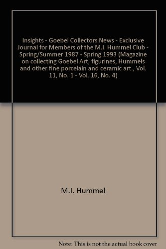 Insights - Goebel Collectors News - Exclusive Journal for Members of the M.I. Hummel Club - Spring/Summer 1987 - Spring 1993 (Magazine on collecting Goebel Art, figurines, Hummels and other fine porcelain and ceramic art., Vol. 11, No. 1 - Vol. 16, No. 4)
