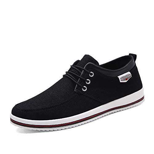 Mens Canvas Fashion Sneaker Causal Lace-Up Skateboarding Soft Non-Slip Comfortable Street Shoes