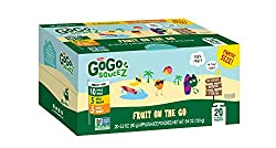 Gogo Squeez Applesauce Go, Variety Pack (Apple Appleapple Bananaapple Mango), 3.2 Ounce Portable Bpa-free Pouches, Gluten-free, 20 Total Pouches