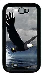 3D Eagle TPU Rubber Samsung Galaxy Note 2/ Note II/ N7100 Case Cover - Black