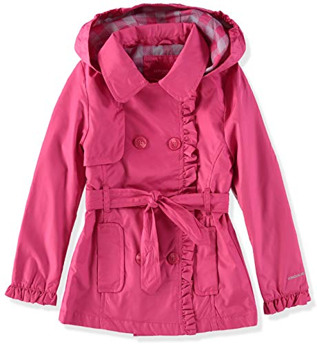 London Fog Girls' Lightweight Trench Coat (14/16, - Pink Plaid London