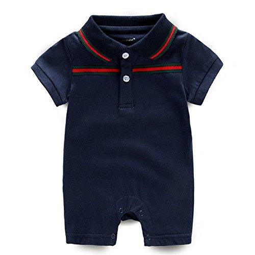 BZDREAM Baby Boy/Girl Fashion Polo Lapel Short Sleeve Romper