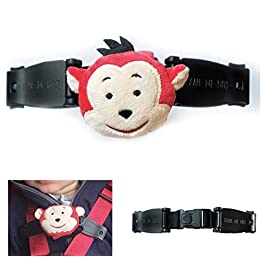 Escape Me Not Car Seat Anti Escape Harness Chest Clip No Threading Required Helps Prevent Children Taking Their Arms Out of The Straps – Monkey Design