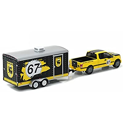 Greenlight New 1:64 Hitch & Tow Series 9 - Yellow 2015 Ford F-150 & Enclosed CAR Trailer Diecast Model Car: Toys & Games
