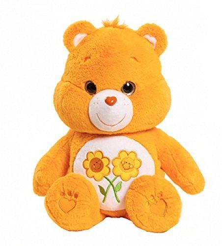 sh 21 inch Friendship Bear Golden Orange Yellow with Chest Flowers ()