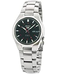 Seiko Mens SNK617 Seiko 5 Automatic Black Dial Stainless Steel Watch