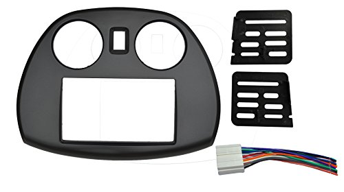 Radio stereo Double 2 Din Dash Install Kit Mount Trim Bezel w/ Wiring Harness and Factory Blue LED Fitted For Mitsubishi -