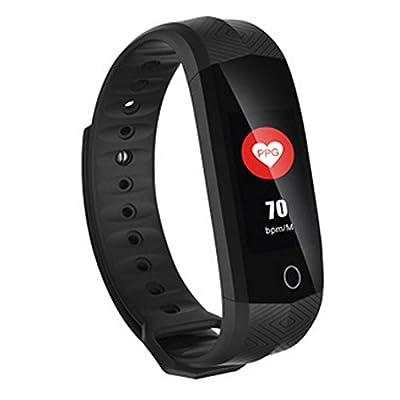 Bracelet intelligent Écran couleur intelligent anneau de la main de l'adulte du sang de l'oxygène de la pression sanguine de la main de l'anneau de l'exercice de surveiller le rappel de l'information de l'appel