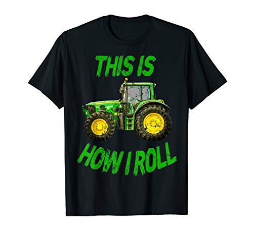 Green Tractor This Is How I Roll Farmer Kids Gifts T-Shirt ()