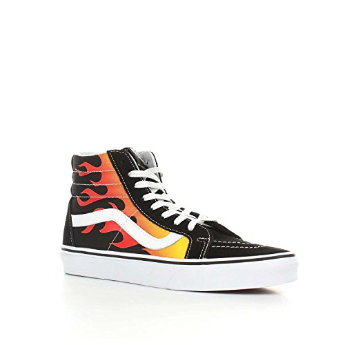 Sk8 Hi Hightop Black Vans Sneaker Herren Flame 58wp6R