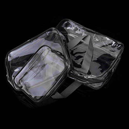 PIXNOR 3 Stück Wasserdicht Kulturbeutel Transparent Kosmetiktasche