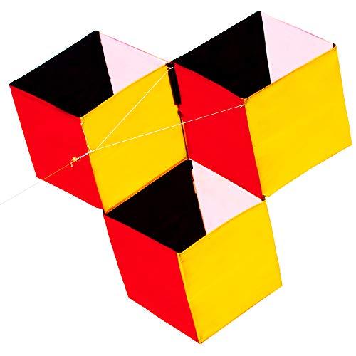HENGDA KITE for Kids 3D Magic Cube Box Kite Single Line Kite Flying for Children Kids Outdoor Toys Beach Park Playing ()