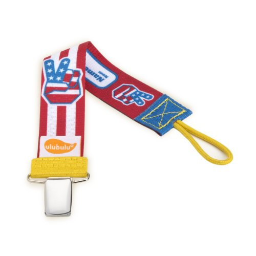 Ulubulu Universal Pacifier Clip Patriotic
