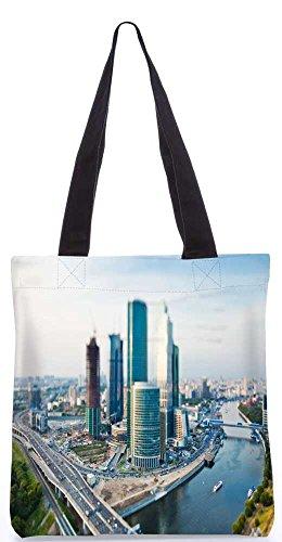 """Snoogg Japan Stadt Tragetasche 13,5 X 15 In """"Einkaufstasche Dienstprogramm Trage Aus Polyester Leinwand"""