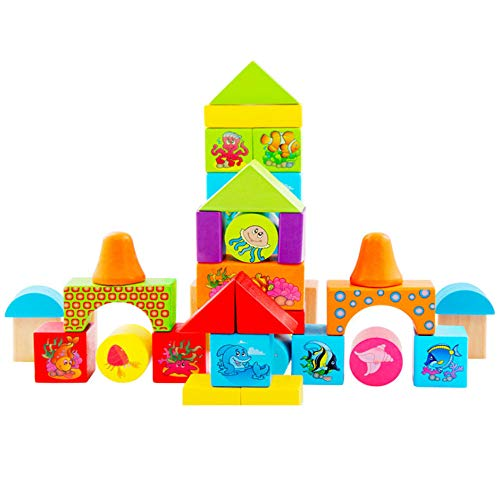 Clearance Sale!DEESEE(TM)Wooden Puzzle Toddler Toy Shape Sorter Preschool Geometry Stacking Game for Kids]()