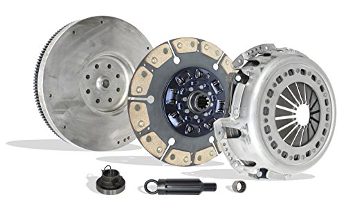 Clutch kit With Flywheel Works With Dodge Ram 2500 Ram 3500 Laramie ST SLT Base Cab & Chassis 2001-2005 5.9L L6 DIESEL OHV Turbocharged (Cummis Turbo Diesel; 6 Speed Trans Only; 6-Puck Disc Stage 2)