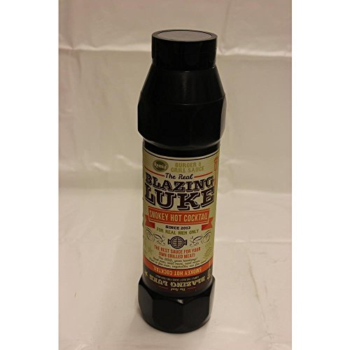The Real Blazing Luke Barbecue Sauce Smokey Hot Cocktail 750ml Flasche (Grill-Sauce)