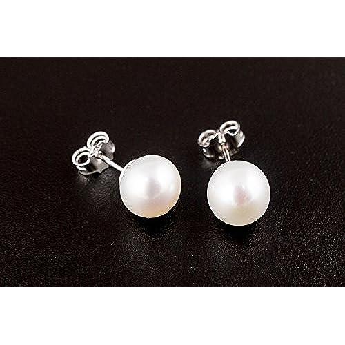 13c0a22b4da0 De bajo costo Miyu - Pendientes de perlas naturales 7