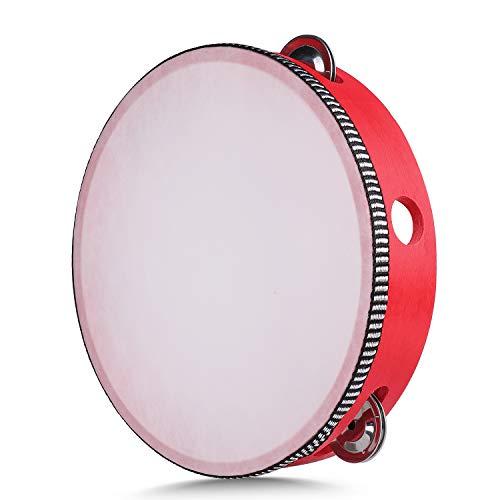 Flexzion Red Handheld Tambourine 8
