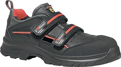 Sandale EN20345 ESD S1P SRC Oak Gr. 40 Glattleder schwarz Klettverschluss