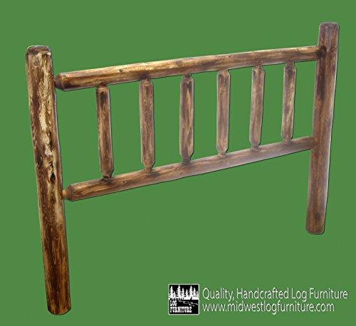 Midwest Log Furniture - Torched Cedar Log Headboard - King