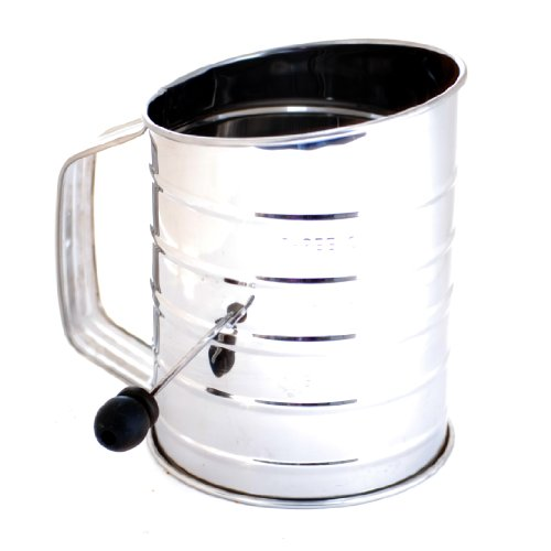 Norpro 136 3-Cup Stainless Steel Crank Flour Sifter