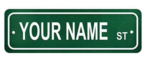 personalized-custom-name-street-sign-6-x-18-authentic-reflective-aluminum