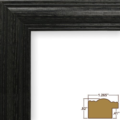 Craig Frames 440BK 18 by 24-Inch Picture Frame, Wood Grain Finish, 1.265-Inch Wide, Black