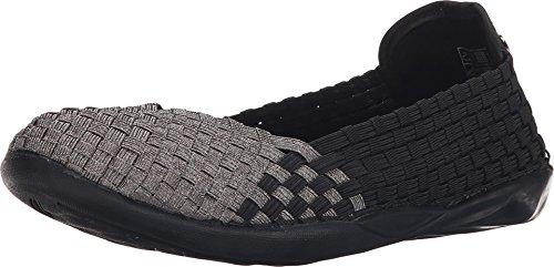 Bernie Mev Women's Braided Catwalk Black/gunmetal Flats - 7.5 B(M) US