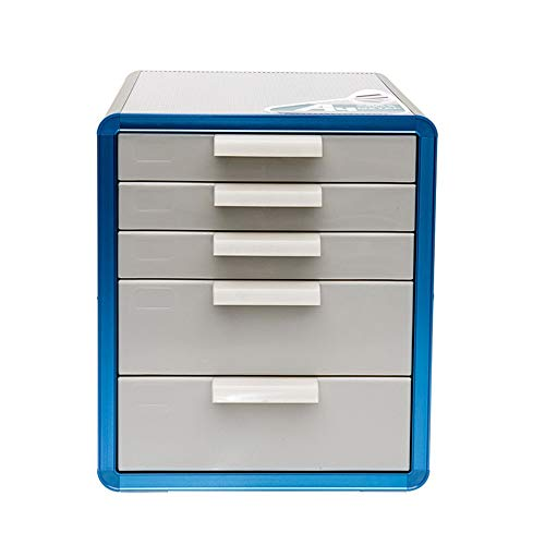 Ybriefbag-Office Products Five File Cabinet Aluminum Alloy Cabinet Desktop File Cabinet with Lock Hanging File Holder