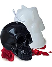 Lantsang Candle Molds for Candle Making, 3D Skull Shape Silicone Molds Candle for Making Aromatherapy Beeswax Candle Soap Lotion Bar Crayon Wax Melt Polymer Clay Cake Decorating Tool