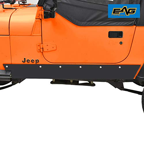 - EAG Rock Sliders Rock Rails Guards Off Road Armor Fit for 87-96 Jeep Wrangler YJ