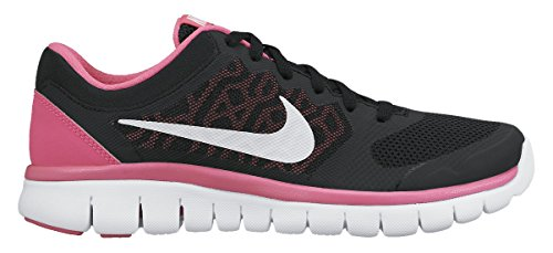 Nike Girl's Flex Run 2015 Running Shoe (GS) Black/Pink/White Size 6 M - Santa Rosa Stores In