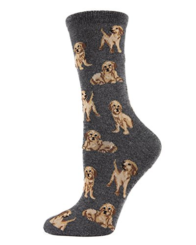 MeMoi Golden retriever socks Charcoal Gray MWN00130 One ()