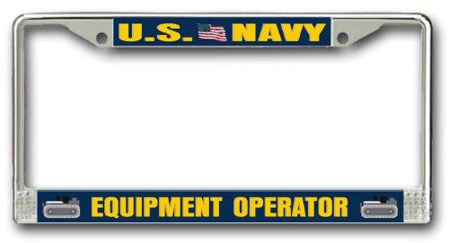 US Navy Equipment Operator License Plate Frame - Operator License Plate